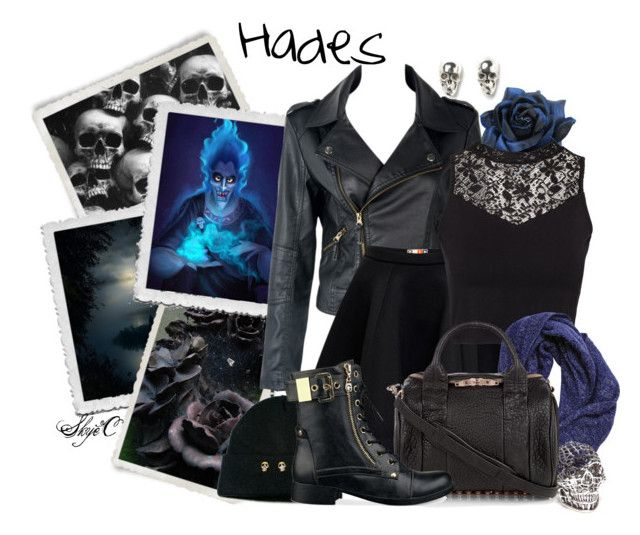 Hades - Punk - Disney's Hercules by rubytyra on Polyvore featuring polyvore fashion style NLY Trend MSGM G by Guess Alexander Wang Han Cholo LeiVanKash Nixon clothing disney Punk hercules disneybound Hades