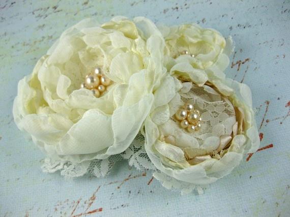 Custom Bridal Hair Fabric Flower