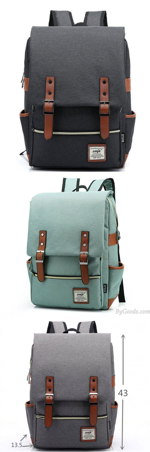Retro Large Travel Backpack Leisure Leather Canvas Backpack Schoolbag for big sale ! Which color do you like? #backpack #college #bag #rucksack #cute #canvas #student