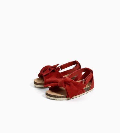 Zara Bebe Años Zapatos 4 Piel Sandalia Niños Meses Lazo Niña3 8wvNnm0