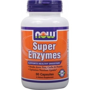 NOW Super Enzymes - Blend of several enzymes (Bromelain, Ox bile, pancreatin and papain) formulated to optimize the breakdown of fats, carbs and protein for maximum assimilation. Thus, supports healthy digestion and nutrient uptake. #Products