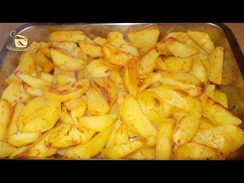 Cartofi aurii la cuptor    O garmitura simpla si gustoasa pentru o gama larga de preparate, cartofi aurii la cuptor.Se gatesc rapid...