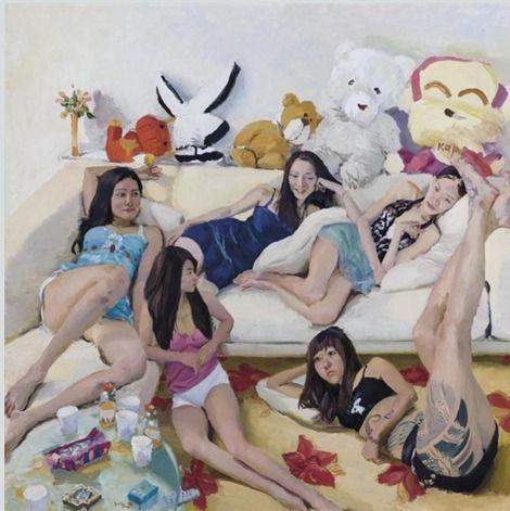 Liu Xiaodong, family party on ArtStack #liu-xiaodong #art