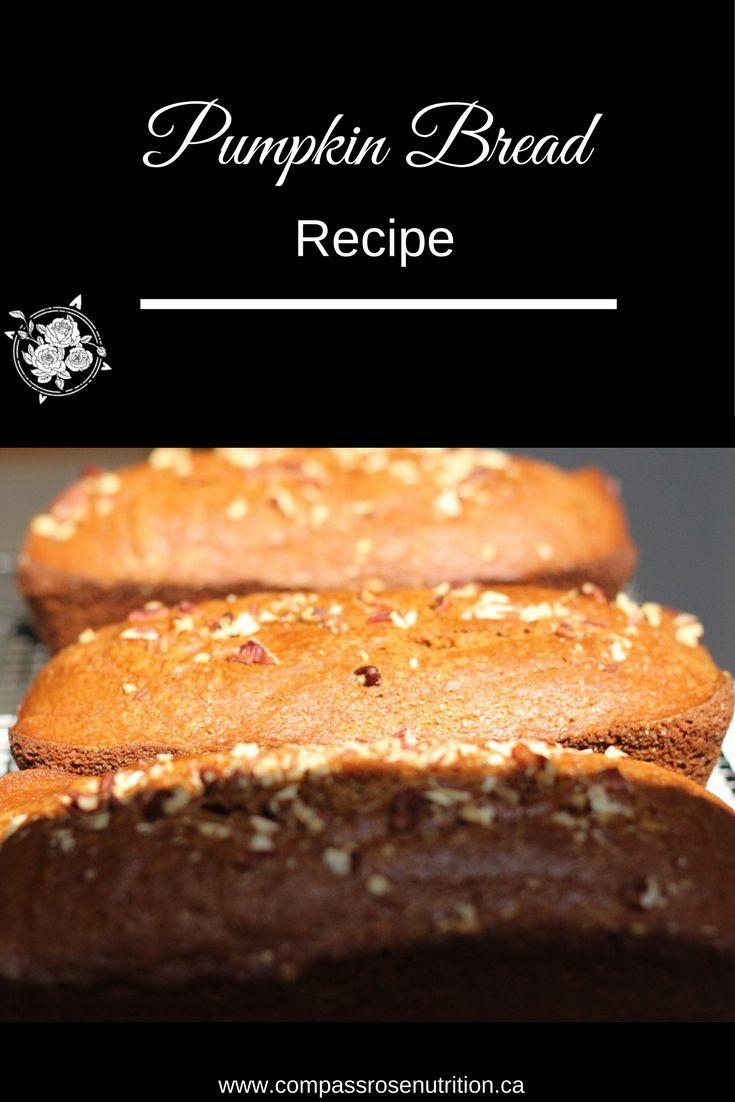 Pumpkin Bread Recipe | Fall recipe | Winter recipe | Healthy recipe | Click on post to view the recipe
