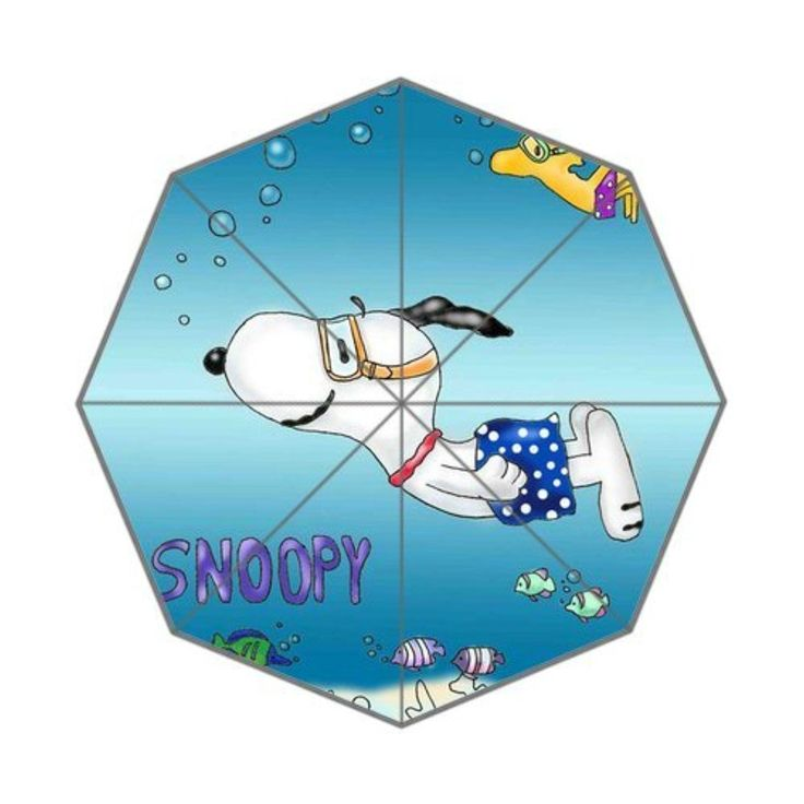 Snoopy Swimming Custom Foldable Umbrella Men Women Kid's Umbrella Travel Umbrella Anti Uv - Brought to you by Avarsha.com
