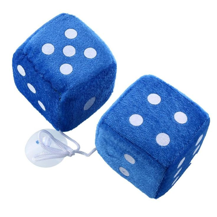 Car Styling Pair Multcolor Fuzzy Plush Dice Rear Mirror Hangers Vintage Car Auto Accessories Car Decoration
