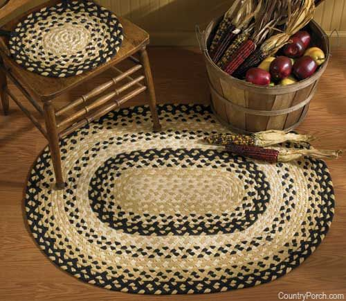 High Quality Cornbread Braided Chairpads And Braided Rugs In Ovals And Rectangle Area  Rugs @ CountryPorch.com