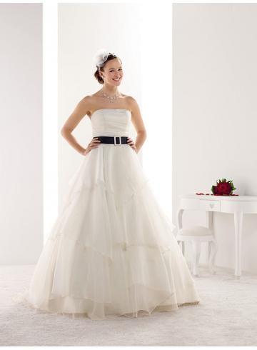Sem Alça Organza Sem Mangas Vestidos de Noiva 2014