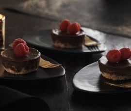 Dark Chocolate Coconut Cheesecakes