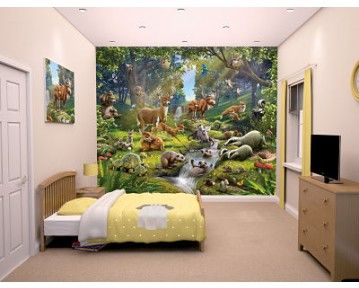 Amazingly detailed animals of the forset wall mural available at www.middletonwood.co.uk
