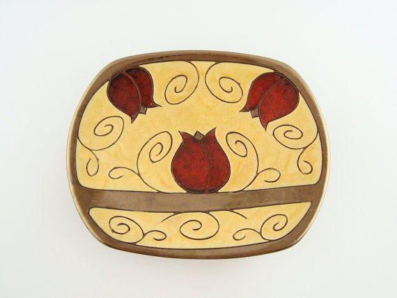 Ceramic fruit plate large fruit bowl Fruit Platter by Avanturine