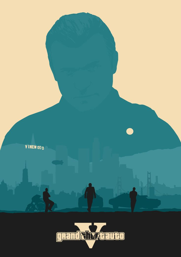 A very cool Grand Theft Auto V poster (featuring Michael De Santa)