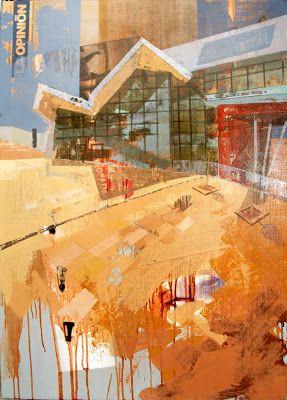 Urbana Rustica XI - Universidad de Torrente Valencia Collage + Acrilico  104 X 75 cm. Finalista VIII Concurs de Pintura Rápida de Torrent 2012.