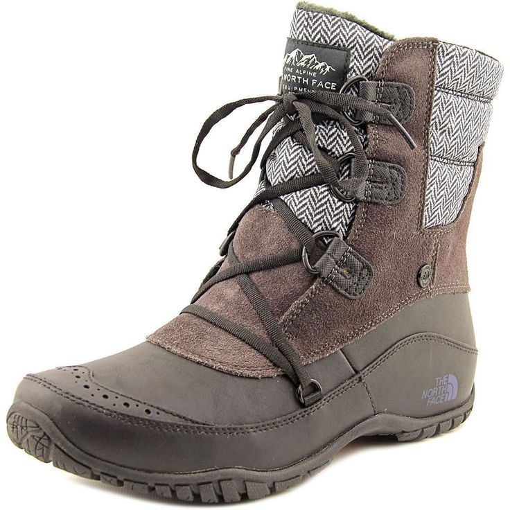 The North Face Nuptse Purna Shorty Round Toe Leather Snow Boot