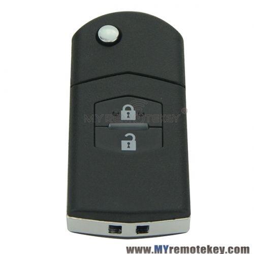 Flip remote key for Mazda M6 2 Button