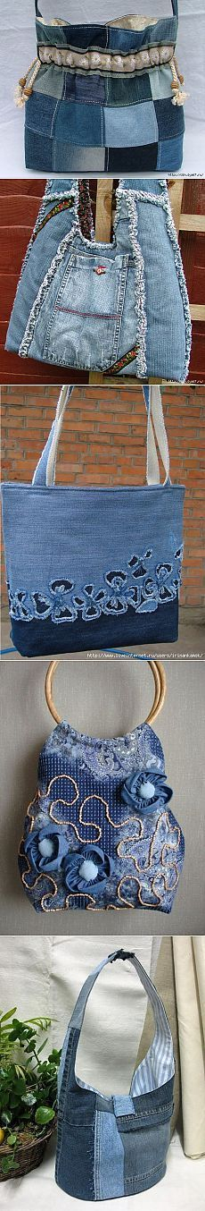 Denim changes - jeans bag - Crafts