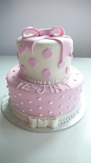 Little Girls 1st Birthday Cake by CAKE Amsterdam - Cakes by ZOBOT, via Flickr