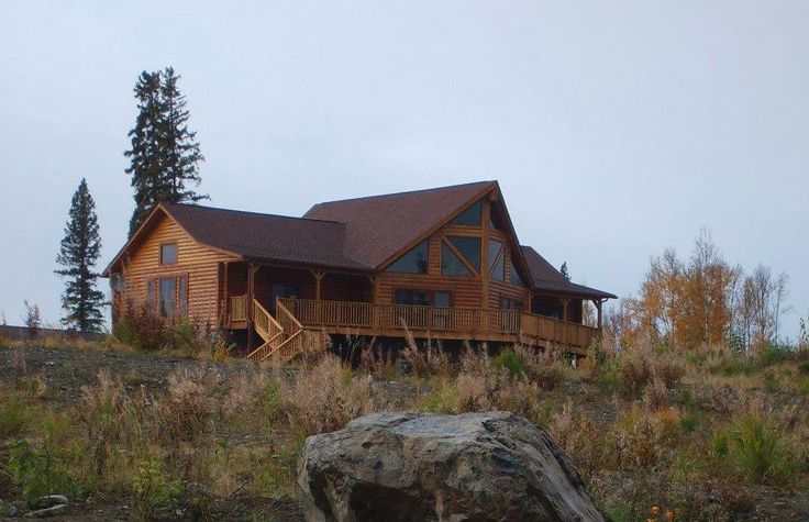 Pin by gastineau log homes on log cabin pinterest for Home builders alaska
