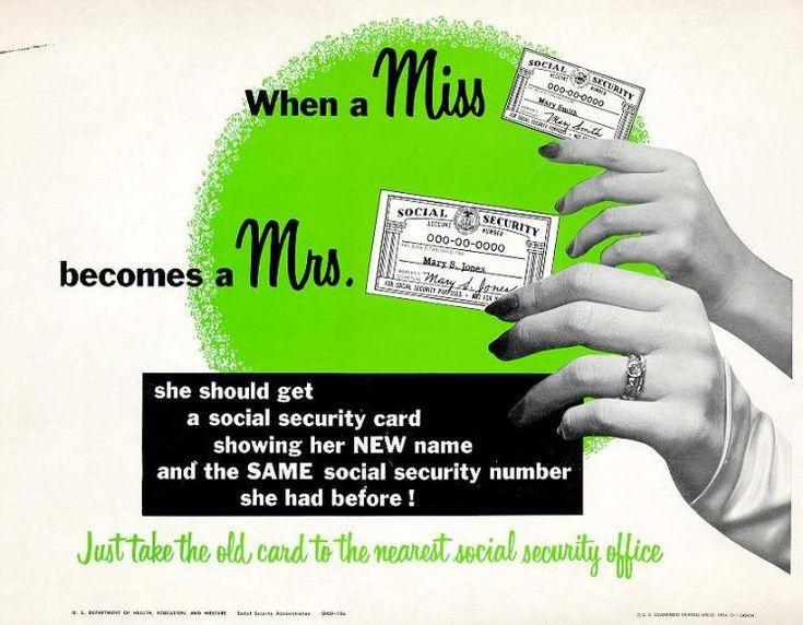 19 best SSA is on Pinterest! images on Pinterest Poster vintage - social security name change form
