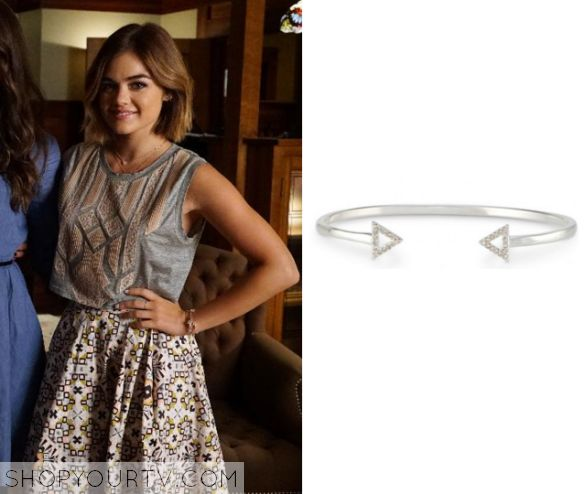 Pretty Little Liars: Season 6 Episode 12 Aria's Arrow Bracelet