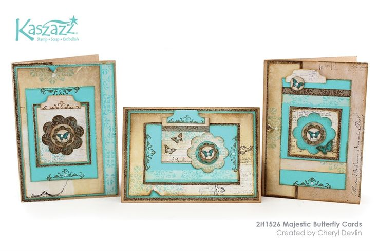2H1526 Majestic Butterfly Cards