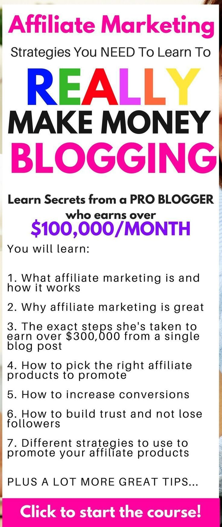 The BEST course you need to learn about Affiliate marketing tips for beginners, affiliate marketing tips| affiliate marketing strategy| make money blogging| blogging for beginners| how to make money online| affiliate marketing | make money from home #onlinemarketing