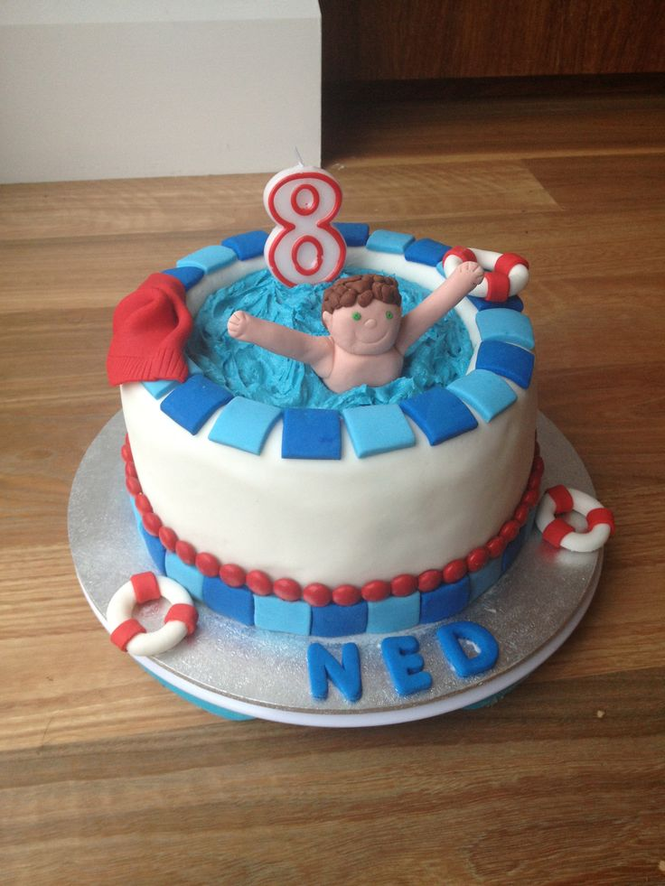 Swimming Pool Cake Ideas : The best images about ned s party cake ideas on