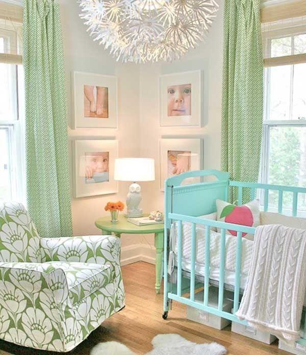 Full, but cozy.Ideas, Lights Fixtures, Nurseries, Colors Schemes, Baby Girls, Baby Room, Cribs, Babies Rooms