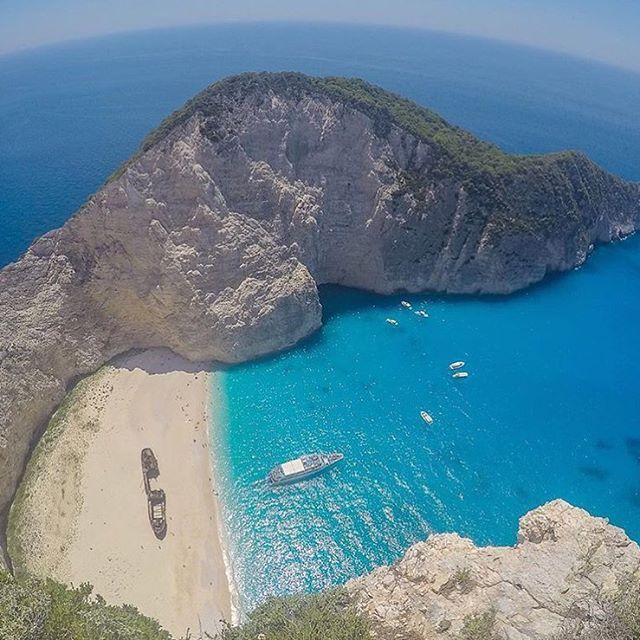 Most Beautiful Places Zakynthos: Navagio Beach In Zakynthos, Greece �� Photo By