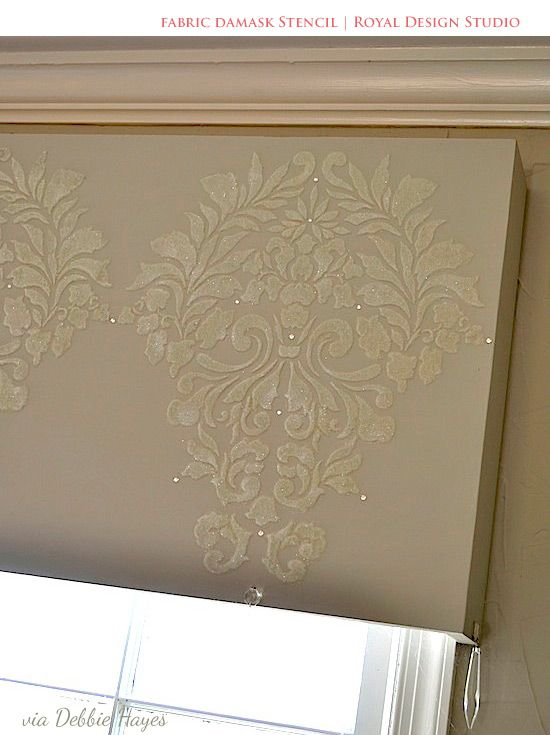 Stenciling Stylish DIY Window Treatments