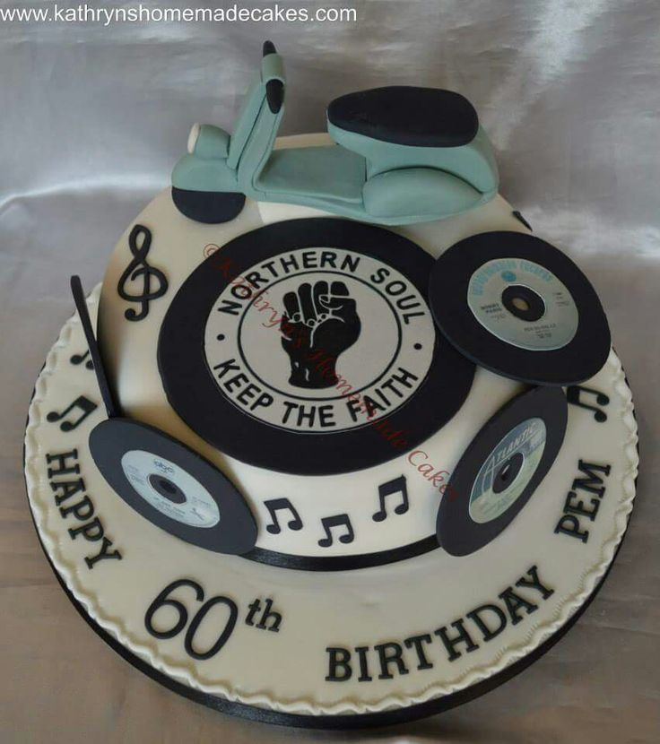 Northern Soul Themed 60th Birthday Cake Designer Cakes