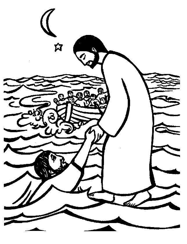 christelijke clipart jezus loopt op het water http