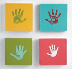 cute: Wall Art, Hands Prints, Canvas Kits, Kids Room, Cute Ideas, Handprint Art, Handprint Canvas, Hand Prints, Crafts