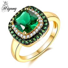 HIYONG Green Glitter Ring May Birthstone Promise Gift for Girlfriend Pretty Round Luxury Jewelry Amazing Colour Anel Feminino //Price: $US $6.68 & FREE Shipping //     #jewelry