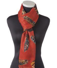 Lundorf Simone scarf viscose with feathers 200x92 cm.