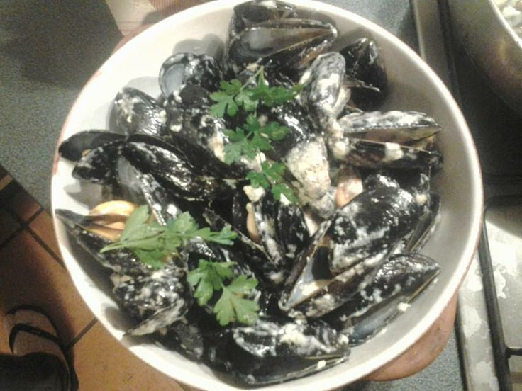 Mussels with Gorgonzola