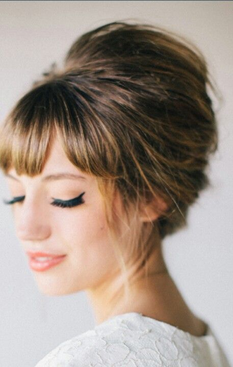 Top 25 Best Bouffant Hairstyles Ideas On Pinterest 1960 Easy Wedding Updo And High Bun
