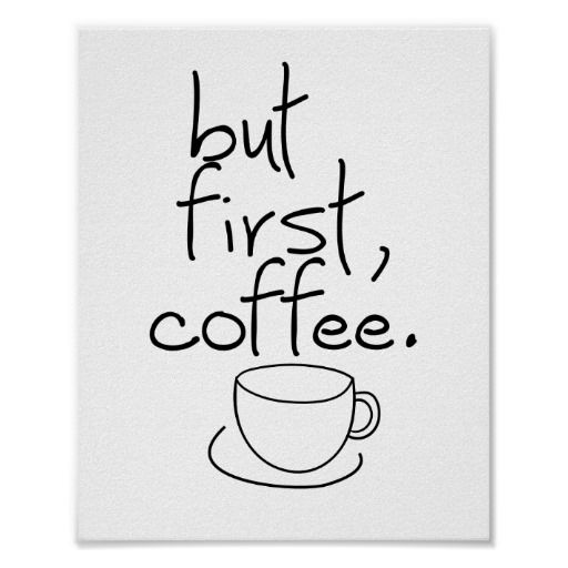 But First Coffee Wall Art Poster by The Digi Dame on Zazzle zazzle.com/eternalhope*