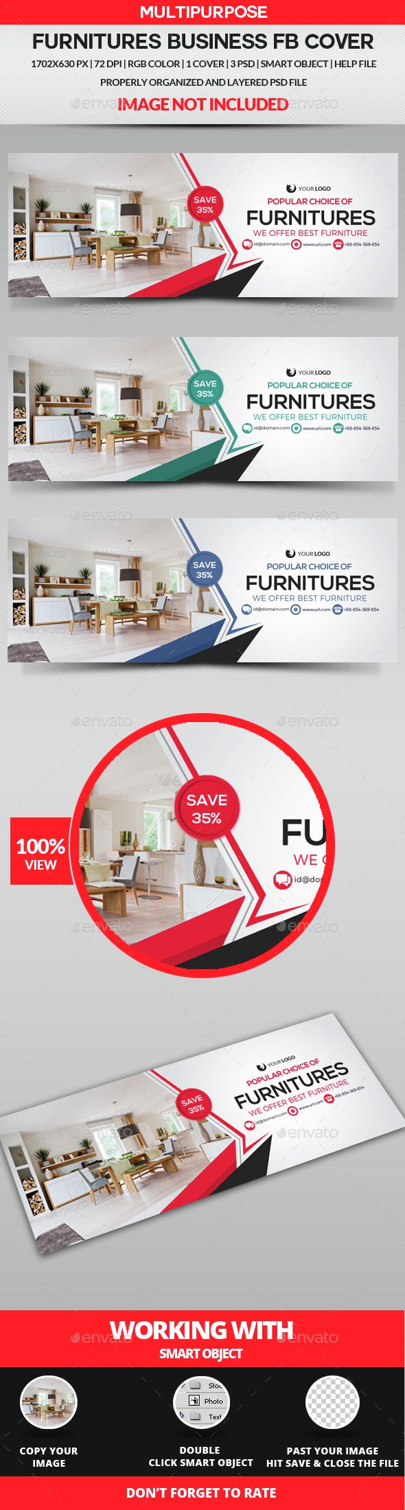 Furniture Facebook Cover Template PSD. Download here: http://graphicriver.net/item/furniture-facebook-cover/15412548?ref=ksioks