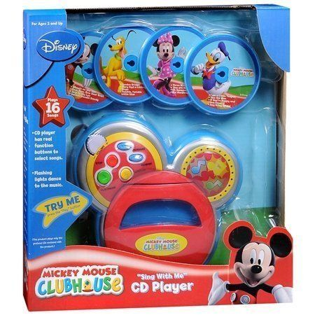 New Disney Mickey Mouse Clubhouse Sings with Me CD Player 4 Disc 16 Song Kid Toy | eBay Sasha would love!