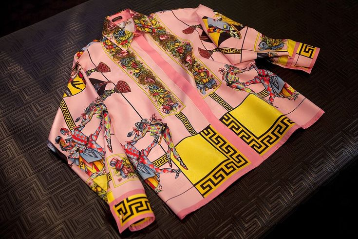Amazing Vintage Versace men's shirt - fruit + Harlequin!