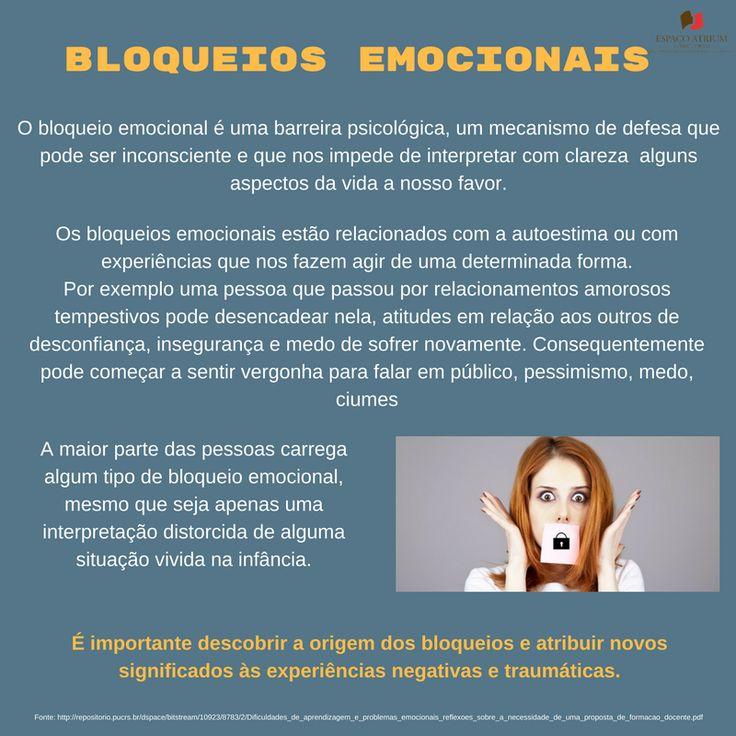 Os Bloqueios emocionais, condicionam a nossa capacidade para atingir as metas que nos trazem felicidade.