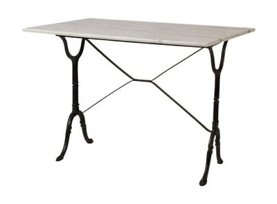 VINTAGE BISTRO TABLE U2022marble Top U2022salvaged From A Belgian Café U2022mid 20th