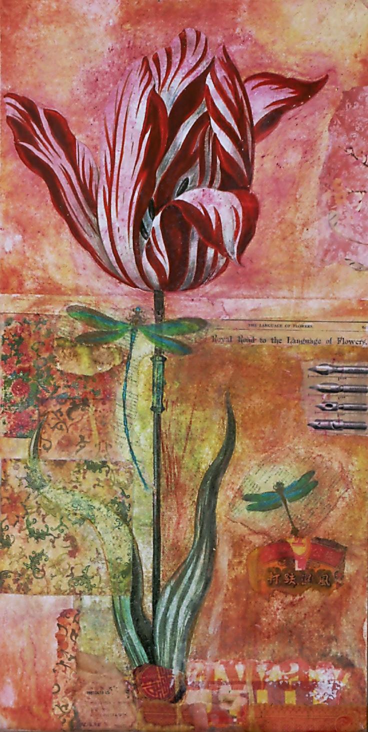Ifigenia Christodoulidou: mixed media collage on wood
