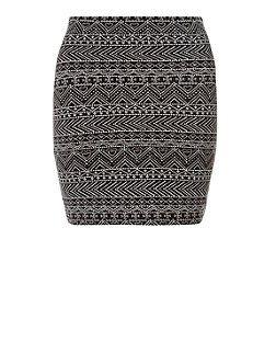 Teens Black Abstract Print Tube Skirt | New Look