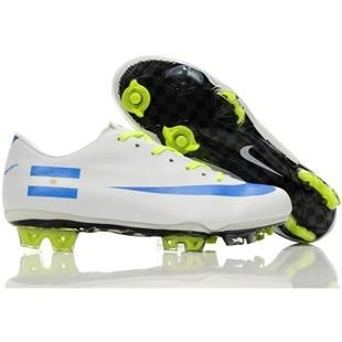 Cheap Sale Nike Mercurial Vapor Superfly III Elite Safari FG Firm Ground Argentina Team Soccer Cleats White/Blue