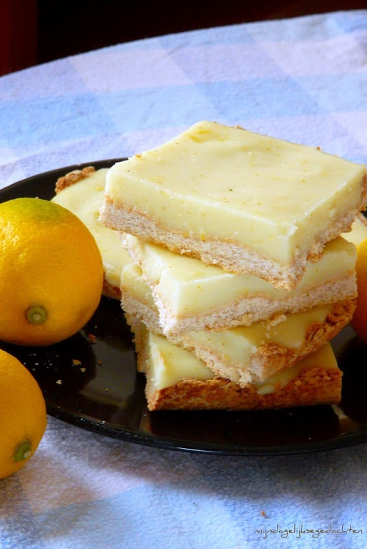Light Lemon Coconut Bars  crust:  3/4cup (200ml) WW flour  3/4 cup AP flour  pinch of salt  3tb.s. sugar  2/3 cup Becel margarine  splash (maybe 2tb/s/ cold water)    For the filling:    250ml water  app.150ml lemon juice  app.5-6tb.s. sugar (to taste)  15g gelatine  0,5 can (200ml) full fat coconut milk  vanilla  3tb.s. potato starch/or corn  zest of 1 lemon  pinch of turmeric (for the colour)