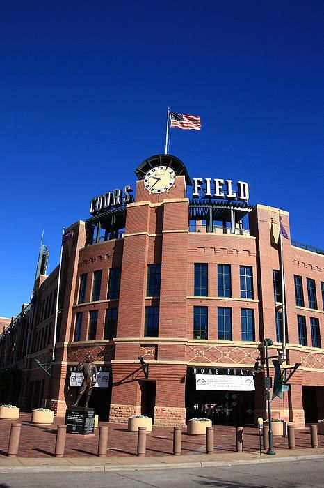 Coors Field - Colorado Rockies. Baseball in mile high Denver. Wall Art at http://frank-romeo.artistwebsites.com/