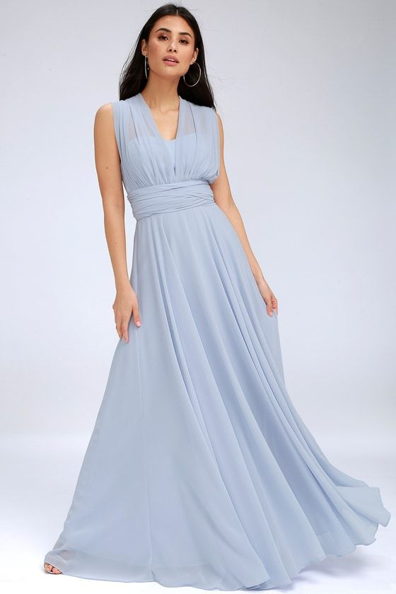 d67649a6f89ab Magical Evening Periwinkle Blue Convertible Maxi Dress in 2019 ...