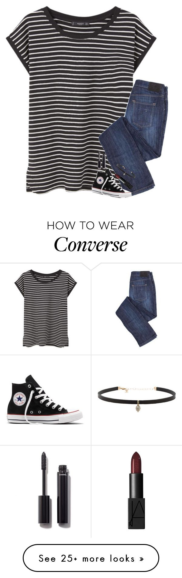 """@ emergency room"" by pineapple5415 on Polyvore featuring MANGO, Converse, Chanel, NARS Cosmetics and Carbon & Hyde"
